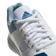 adidas Howzat Junior Kids Cricket Trainer Spikes Shoe White/Blue