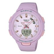 Montre Casio Baby-G Bluetooth + Step Tracker lila rose