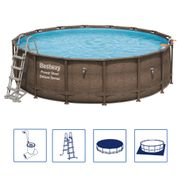 Bestway Ensemble de piscine rond Power Steel Deluxe Series 56666