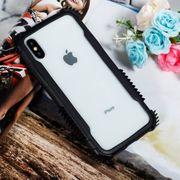 Coque housse iphone xr-Lame Acrylique + TPU résistant aux Chocs housse de Protection pour iPhone XR(Noir Blanc)
