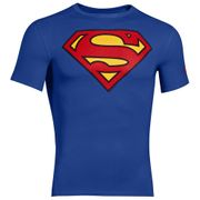 UA Alter Ego Compression SS Superman - Royal / Rouge