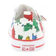 CONVERSE-Baskets imprimé blanc dinosaure basses à scratch en toile bébé fille converse