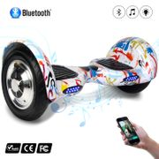COOL&FUN Hoverboard 10 pouces avec Bluetooth, Gyropode  Overboard Smart Scooter, Graffiti