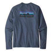 Sweatshirt Patagonia P-6 Logo Lightweight Crew bleu