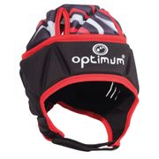 Optimum Razor Kids Rugby Headguard Scrum Cap Black/Red