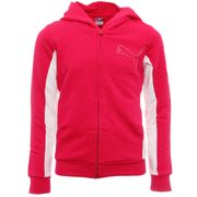 Sweat zippé rose Fille Puma