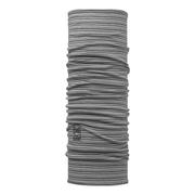 Buff Merino Wool Light Grey Stripes