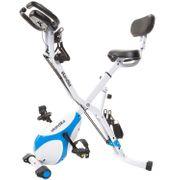 Foldaway X-3000 - Vélo d'appartement x-Bike Pliant - 8 Niveaux de Resistance - Dossier-Bluetooth - Bleu/Blanc