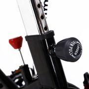 Vélo d'appartement cardio vélo biking écran multifonction selle et guidon réglables fonction cardio noir et rouge neuf 10