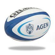BALLON DE RUGBY  Ballon de rugby Replique Club Agen - Taille 5 - Homme