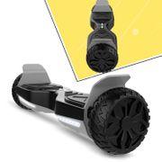 Cool&Fun Hoverboard Hummer 6.5 Pouces, Gyropode SUV Tout-Terrain, avec Bluetooth et LED, Smart Scooter Électrique Auto-équilibrage, Noir