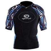 Optimum Razor Rugby Body Protection Black/Blue