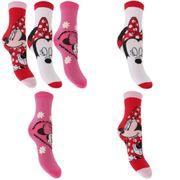 Disney Minnie Mouse - Chaussettes officielles (3 paires) - Enfant