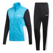 Survetement Adidas Plain Trickot bleu turquoise blanc noir femme