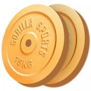 Gorilla Sports - Lot de 2 poids Couleur Or avec diamètre de 30mm 2 x 15kg