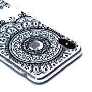 Coque housse pour iphone XS Vernis Transparent Peinture le Cas Mou de TPU Pour l'iPhone XS Max(Noir Totem)