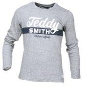 Tee Shirt Garçon Teddy Smith Tobin Retro Ml 61005908d 149 Gris Chine