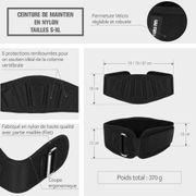 Gorilla Sports - Ceinture de musculation & fitness S, M, L - Noir