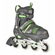 Hudora Inlineskate RX-21 - Rollers - Noir/Vert - Taille 33-36