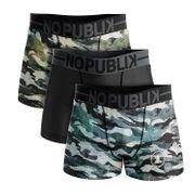 No Publik - Lot De 3 Boxers Microfibre Homme Camouflage