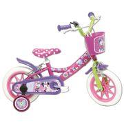 Vélo  12 Licence Minnie pour enfant de 3 à 5 ans avec stabilisateurs à molettes