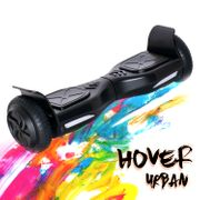 Hoverboard 6,5 Pouces Overboard,Gyropode Scooter Electrique noir + Hoverkart Noir, Gyropode Overboard certifié, Kit kart