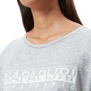 T-shirt Napapijri Sevora manche courte gris clair femme