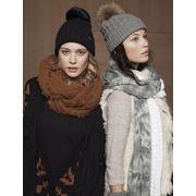 BARTS-Bonnet noir coton et cashmere pompon imitation fourrure du 10 au 18 ans Barts