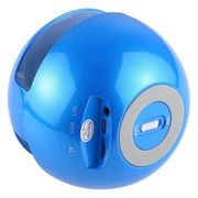 Écouteur bluetooth-BT-118 Mini Wireless Bluetooth Speaker with Breathing Light, Support Hands-free / TF Card / AUX (Blue)