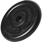 Gorilla Sports - Poids disque en caoutchouc de 2,5 kg