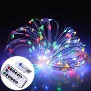 Lumière de fête-Guirlande fil argentée de 10m usb