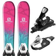 SALOMON E Qst Lux Jr S Ski + E C5 J75 Fixations Enfant