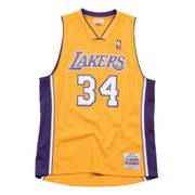 Maillot NBA Shaquille O'Neal Los Angeles Lakers 1999-00 Mitchell & ness Hardwood Classic swingman jaune taille - M