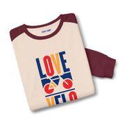 Sweatshirt bicolore Love velo