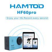 Caméra de sport- HF60 Pro UHD 4K WiFi 16.0 MP Caméra de Sport avec Boîtier Étanche Et Télécommande, Generalplus 4247, de 2,0 pouces Écran