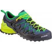 Chaussures Salewa Wildfire Edge bleu vert lime noir