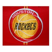 MITCHELL & NESS Snapback Houston ROCKETS Rouge / Jaune XL Logo