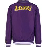Bomber NBA Los Angeles Lakers New Era Team Apparel Violet pour Homme Taille - L