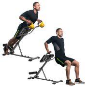 Appareil de Fitness et musculation pour abdominaux inclinaison et hauteur réglables gris noir neuf 32