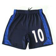 Short de foot enfant personnalisé avec numéro - bleu marine