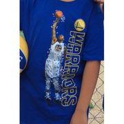 T-shirt NBA Kevin Durant Golden State Warriors Pixel Player Bleu pour enfant taille - 7 ans
