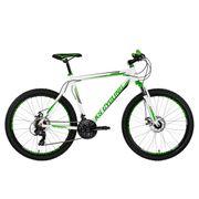 VTT semi-rigide 26'' Compound blanc-vert TC 48 cm KS Cycling
