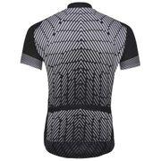 Odlo - Stand-Up Collar Full-Zip Fujin Print Shortsleeve Hommes Maillot de vélo (noir/gris)