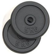 Disque haltères 2 x 5kg - Diamétre de la barre 30 mm