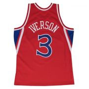 Maillot NBA swingman Allen Iverson Philadelphie Sixers Hardwood Classics Mitchell & ness Rouge taille - L