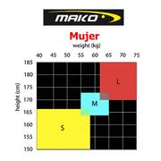 Combinaison néoprène Mako LS1 noir rouge rose femme