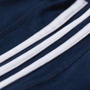 adidas Essential Mid Mens 3 Stripe T-Shirt Tee Navy Blue, L