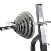 Gorilla Sports - Banc de musculation renforcé avec support et set d'haltère olympique 130 kg