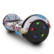 Cool&Fun Hoverboard 6.5 Pouces, Gyropode avec Bluetooth et Pneu à LED de couleur, Overboard Certifé CE, UL, Graffiti