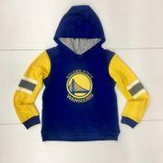 Sweat à capuche NBA Golden State Warriors Block Action Bleu pour enfant Taille - S (120-135cm)